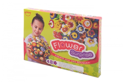 Flower Surprise Box - for 48 colourful foam flowers.