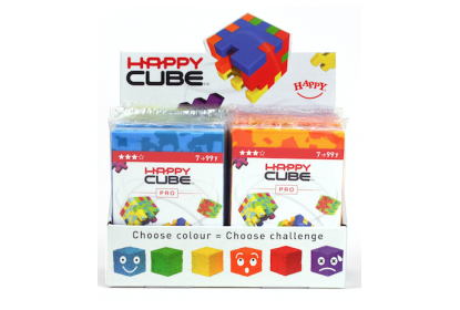 Display with 24 x Happy Cube© Pro puzzles