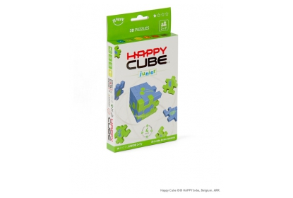 Happy Cube Junior 6-pack, 6 foam cube puzzles included, flat packed in their frame.
