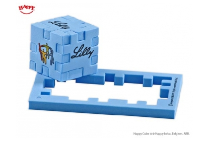 Standard rectangle frame - Happy Cube foam puzzle 4 cm - Blue foam with screen print in 5 colours
