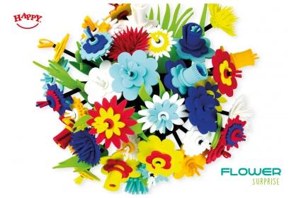 Flower Surprise bouquet of 36 foam flowers