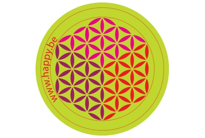Mousepad circle Flower of Life 180 mm (thickness 2mm)