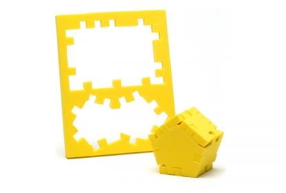 The Jimble Jumble puzzle frame consists of 8 puzzle pieces.
