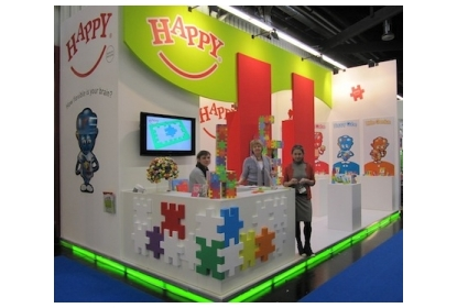 Happy booth at the Nurenberg toyfair 2012.