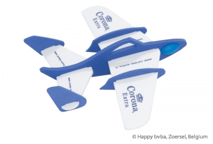 This middle foam Air Glider exists out of two foam colours: white and blue and the logo is screen printed with blue ink.
