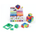 Display with 24 x Happy Cube Pro puzzles and constructions