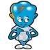 Happy Cube Acrylic Character.