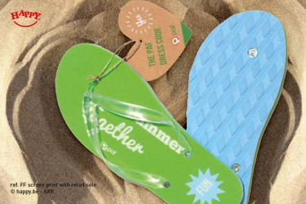 2181776aac6f3c Our Flip Flops can be customized with a card